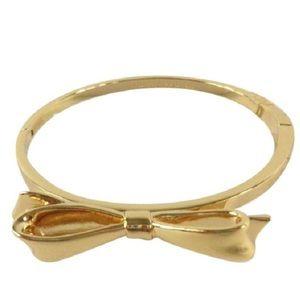 Kate Spade Love Notes Bow Gold Bangle Bracelet